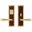 "Rocky Mountain Hardware<br />E118/E116 - Entry Mortise Lock Set - 3"" x 10"" Designer Escutcheons"