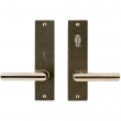 "Rocky Mountain Hardware<br />E160/E162 - Patio Dead Bolt/Spring Latch Set - 2"" x 8"" Edge Escutcheons"