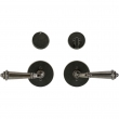 "Rocky Mountain Hardware<br />E202/E202 - Entry Dead Bolt/Spring Latch Set - 3-1/2"" Round Metro Escutcheons"