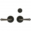"Rocky Mountain Hardware<br />E202/E202 - Patio Dead Bolt/Spring Latch Set - 3-1/2"" Round Metro Escutcheons"