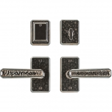 Rocky Mountain Hardware - Entry Dead Bolt/Spring Latch Set - 2-1/2