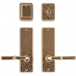"Rocky Mountain Hardware<br />E30406/E30406 - Entry Dead Bolt/Spring Latch Set - 2-1/2"" x 8"" Hammered Escutcheons"