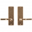 "Rocky Mountain Hardware<br />E30406/E30406 - Passage Mortise Lock Set - 2-1/2"" x 8"" Hammered Escutcheons"