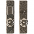 "Entry Mortise Lock Set - 2-1/2"" x 10"" Hammered Escutcheons"