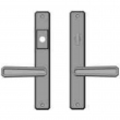 "Rocky Mountain Hardware<br />E30463/E30462 - 1-3/4"" x 11"" Hammered Multi-Point Entry Set Escutcheon, American Cylinder - Entry, Lever Low"