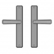 "Rocky Mountain Hardware<br />E30465/E30465 - 1-3/4"" x 11"" Hammered Multi-Point Entry Set Escutcheon, American Cylinder - Full Dummy, Lever High"