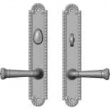 "Rocky Mountain Hardware<br />E30663/E30662 - 2"" x 11"" Corbel Arched Multi-Point Entry Set Escutcheon, American Cylinder - Entry, Lever Low"