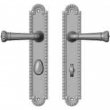 "Rocky Mountain Hardware<br />E30667/E30666 - 2"" x 11"" Corbel Arched Multi-Point Entry Set Escutcheon, American Cylinder - Entry, Lever High"