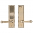 "Rocky Mountain Hardware<br />E30706/E30706 - Passage Mortise Lock Set - 2-1/2"" x 9"" Corbel Rectangular Escutcheons"