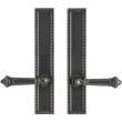 "2"" x 11"" Corbel Rectangular Multi-Point Entry Set Escutcheon, American Cylinder - Passage, Lever Low"