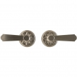 "Passage Spring Latch Set - 3-1/4"" Round Bordeaux Escutcheons"