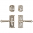 "Entry Dead Bolt/Spring Latch Set - 2-1/2"" x 6"" Bordeaux Escutcheons"