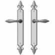 "Rocky Mountain Hardware<br />E30865/E30865 - 2"" x 17"" Bordeaux Multi-Point Entry Set Escutcheon, American Cylinder - Passage, Lever High"