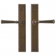 "Rocky Mountain Hardware<br />E330/E330 - 1 3/4"" x 11"" Stepped Multi-Point Entry Set Escutcheon, American Cylinder - Passage Trim, Lever High"