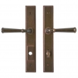 "Rocky Mountain Hardware<br />E338/E336 - 1 3/4"" x 11"" Stepped Multi-Point Entry Set Escutcheon, American Cylinder - Entry, Lever High"