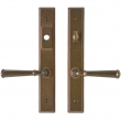 "Rocky Mountain Hardware<br />E339/E337 - 1 3/4"" x 11"" Stepped Multi-Point Entry Set Escutcheon, American Cylinder - Entry, Lever Low"