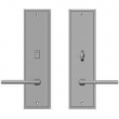 "Rocky Mountain Hardware<br />E364/E363 - Privacy Mortise Bolt/Spring Latch Set - 3-1/2"" x 13"" Stepped Escutcheons"