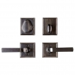 "Rocky Mountain Hardware<br />E416/E416 - Entry Dead Bolt/Spring Latch Set - 2-5/8"" x 2-5/8"" Square Escutcheons"