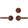 "Rocky Mountain Hardware<br />E417/E417 - Patio Dead Bolt/Spring Latch Set - 2-1/2"" Round Escutcheons"