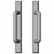 "Rocky Mountain Hardware<br />E468/E468 - Full Dummy Sliding Door Set - 1-3/8"" x 11"" Rectangular Escutcheons"