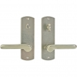 "Rocky Mountain Hardware<br />E507/E506 - Privacy Mortise Bolt/Spring Latch Set - 2-1/2"" x 8"" Curved Escutcheons"