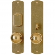 "Rocky Mountain Hardware<br />E511/E513 - Entry Mortise Lock Set - 2-1/2"" x 11"" Curved Escutcheons"
