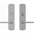 "Rocky Mountain Hardware<br />E514/E513 - Privacy Mortise Bolt/Spring Latch Set - 2-1/2"" x 11"" Curved Escutcheons"