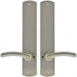 "Rocky Mountain Hardware<br />E556/E556 - Privacy Spring Latch Set - 2-1/2"" x 13"" Curved Escutcheons"
