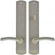 "Rocky Mountain Hardware<br />E556/E557 - Patio Mortise Lock Set - 2-1/2"" x 13"" Curved Escutcheons"