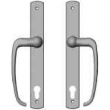 "Rocky Mountain Hardware<br />E564/E564 - Entry Sliding Door Set - 1-3/8"" x 11"" Curved Escutcheons"
