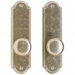"Rocky Mountain Hardware<br />E702/E702 - Full Dummy Set - 2-1/2"" x 9"" Arched Escutcheons"