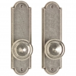 "Rocky Mountain Hardware<br />E702/E702 - Passage Mortise Lock Set - 2-1/2"" x 9"" Arched Escutcheons"