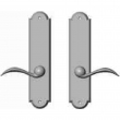 "Rocky Mountain Hardware<br />E755/E755 - 2 1/2"" x 11"" Arched Multi-Point Entry Set Escutcheon, American Cylinder - Passage, Lever Low"