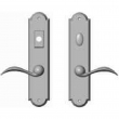 "Rocky Mountain Hardware<br />E757/E756 - 2 1/2"" x 11"" Arched Multi-Point Entry Set Escutcheon, American Cylinder - Entry, Lever Low"