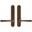 "Rocky Mountain Hardware<br />E776/E776 - 1 3/4"" x 10"" Arched Multi-Point Entry Set Escutcheon, American Cylinder - Passage, Lever Low"