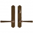 "Rocky Mountain Hardware<br />E776/E777 - 1 3/4"" x 10"" Arched Multi-Point Entry Set Escutcheon, American Cylinder - Patio, Lever Low"
