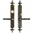 "Rocky Mountain Hardware<br />E823/E821 - Entry Mortise Lock Set - 2"" x 15"" Fleur de Lis Escutcheons"