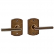 "Rocky Mountain Hardware<br />XPR EB80/EB80 - Express Privacy Spring Latch Set - 2-1/2"" x 3-3/4"" Curved Escutcheons"