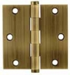 Emtek<br />96114 - BRASS HINGE PAIR 4&quot; x 4&quot; (SQUARE CORNERS)