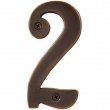Emtek<br />Select Finish  - BRASS 4&quot; HOUSE NUMBERS