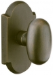 Emtek<br />Select the Rose - SANDCAST BRONZE EGG KNOB