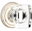 Emtek<br />Brass Windsor Crystal Knob (WS) - Select a Rose