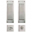 FSB Door Hardware <br />SDL-SA-P - FSB Stainless Steel SDL Sliding Door Lock Deadbolt, Key x Thumbturn