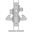 FSB Door Hardware <br />SML 7124 - B. Dormitory Mortise Lock, Key Outside, Thumbturn Inside Emergency Egress