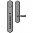"Rocky Mountain Hardware<br />G033/E063 - Entry Mortise Lock Set - 3-1/2"" x 20"" Exterior with 3"" x 13"" Interior Ellis Escutcheons"