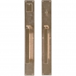 "Rocky Mountain Hardware<br />G242/G241 - Entry Mortise Lock Set - 2-3/4"" x 20"" Metro Escutcheons"