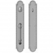 "Rocky Mountain Hardware<br />G30633/G30632 - Push/Pull Dead Bolt - 3"" x 19"" Corbel Arched Escutcheons"