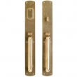 "Entry Mortise Lock Set - 2-3/4"" x 20"" Curved Escutcheons"