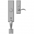 "Rocky Mountain Hardware<br />G542/E412 - Entry Mortise Lock Set - 3-1/2"" x 19-5/8"" Exterior with 2-1/2"" x 8"" Interior Rectangular Escutcheons"