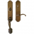 "Rocky Mountain Hardware<br />G572/E728 - Entry Dead Bolt/Spring Latch Set - 3"" x 20"" Exterior with 3"" x 13"" Interior Arched Escutcheons"